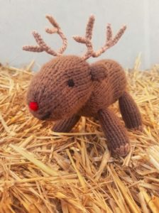 Handmade Knitted Reindeer Daddy Hay Fitting in Knitting Children Quick Craft Ideas