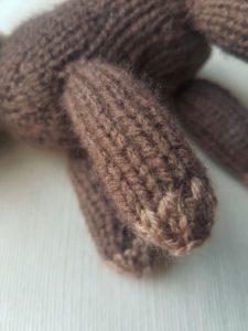 Handmade Knitted Reindeer Daddy Legs Fitting in Knitting Children Quick Craft Ideas