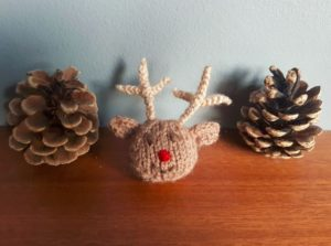 Handmade Knitted Reindeer Hairband Fitting in Knitting Children Quick Craft Ideas