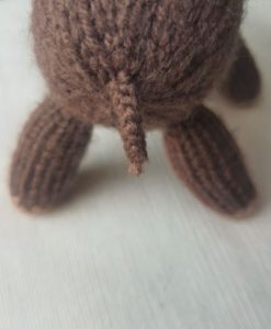 Handmade Knitted Reindeer daddy tail Fitting in Knitting Children Quick Craft Ideas