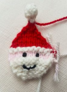 Handmade Knitted Santa Face Fitting in Knitting Children Quick Craft Ideas