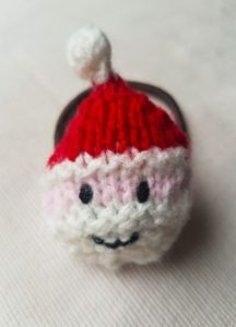 Handmade Knitted Santa Hairband Finsished Fitting in Knitting Children Quick Craft Ideas