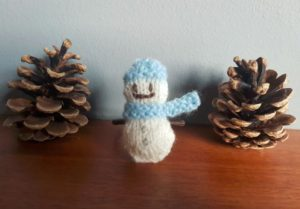 Handmade Knitted Snowman Fitting in Knitting Children Craft Ideas
