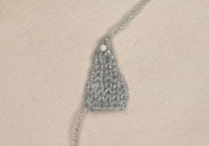 Handmade Knitted Unicorn Horn Piece Fitting in Knitting Children Craft Ideas