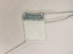 Handmade Knitted Unicorn Leg Piece Fitting in Knitting Children Craft Ideas