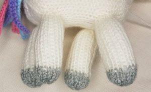 Handmade Knitted Unicorn Neck Legs Positioning Fitting in Knitting Children Craft Ideas