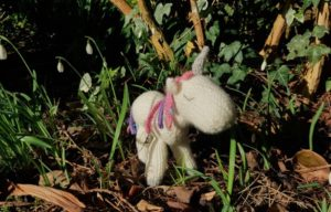 Handmade Knitted Unicorn Outside 2 Fitting in Knitting Children Craft Ideas