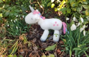 Handmade Knitted Unicorn Outside Fitting in Knitting Children Craft Ideas