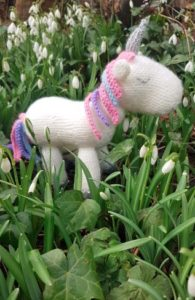Handmade Knitted Unicorn Snowdrops Fitting in Knitting Children Craft Ideas