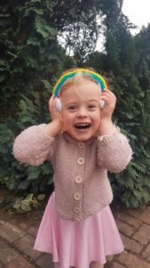 Handmade Knitted Rainbow Headband Fitting in Knitting Children Craft Ideas