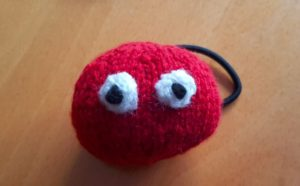 Handmade Knitted Red Nose Head Finished Fitting in Knitting Children Craft Ideas