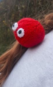 Handmade Knitted Red Nose Head Fitting in Knitting Children Craft Ideas