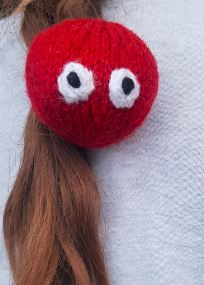 Handmade Knitted Red Nose Head Hairband Fitting in Knitting Children Craft Ideas