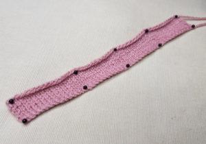 Handmade-Knitted-Flamingo-Leg-Piece-Fitting-in-Knitting