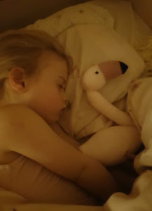 Handmade-Knitted-Flamingo-Sleeping