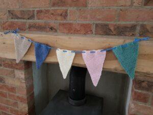 Handmade Knitted Bunting Birthday Knitting Fitting-in-Knitting