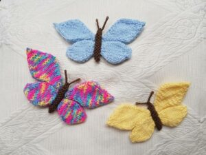 Handmade Knitted Butterflies Finished Fitting-in-Knitting