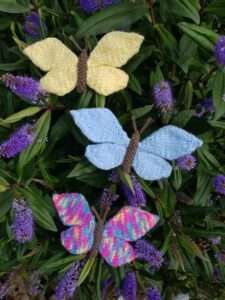 Handmade Knitted Butterflies in Hebe Fitting-in-Knitting