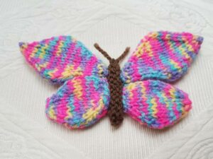 Handmade Knitted Butterfly Finished Multi Fitting-in-Knitting