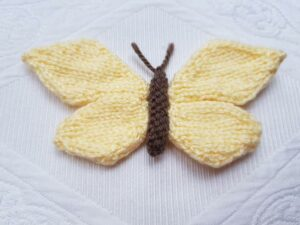 Handmade Knitted Butterfly Finished Yellow Fitting-in-Knitting
