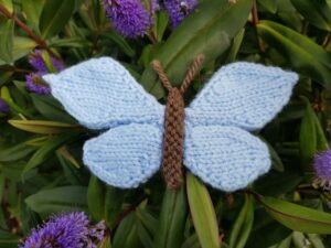Handmade Knitted Butterfly on Hebe Fitting-in-Knitting