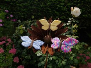 Handmade Knitted Butterfly on Ornament Fitting-in-Knitting