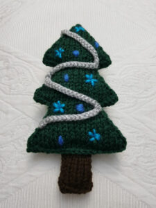 Handmade Knitted Christmas Tree Fitting-in-Knitting