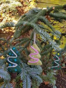 Handmade Knitted Christmas Trees Hanging Fitting-in-Knitting