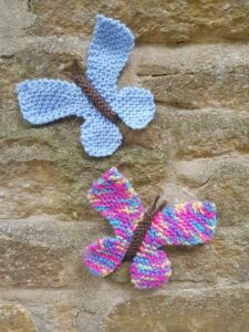 Handmade Knitted Butterflies Fitting-in-Knitting