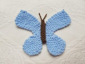 Handmade Knitted Butterfly Fitting-in-Knitting